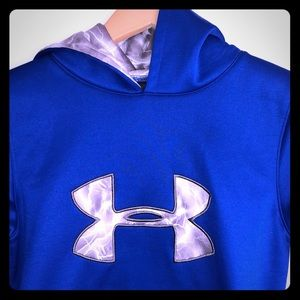 Under Armour youth blue fleece hoodie pullover